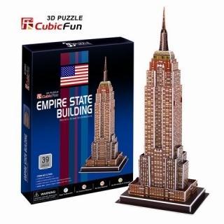 "3D-пазл ""Небоскреб Эмпайр-стейт-билдинг (Нью-Йорк)"" CubicFun (КубикФан)"