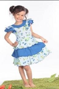 "Платье ""Цветочки на голубом фоне"" Cherubino (Черубино)"