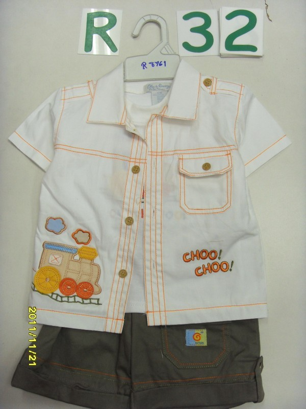 "Комплект ""Паровозик"" (майка, рубашка, шорты) Олдос"