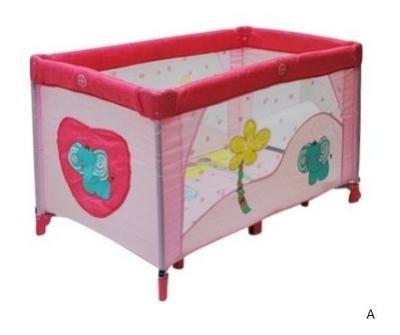 Манеж-кровать Travel, розовый Bebe Planete (Бейби Пленет)