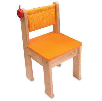 Деревянный стульчик, оранжевый Im Toy (Ай эм той)