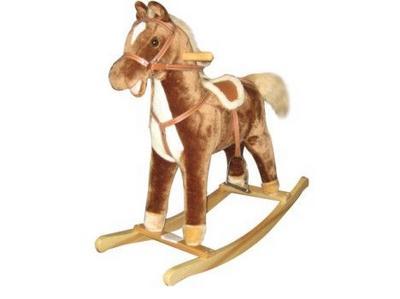 Конь-качалка, светло-коричневый