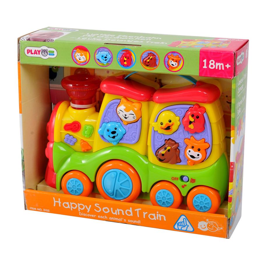 """Развивающая игрушка  """"Паровозик с животными"""" Playgo  (Плейго)"""