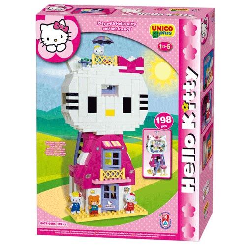 Конструктор Дом – кошка Hello Kitty, UNICO PLUS
