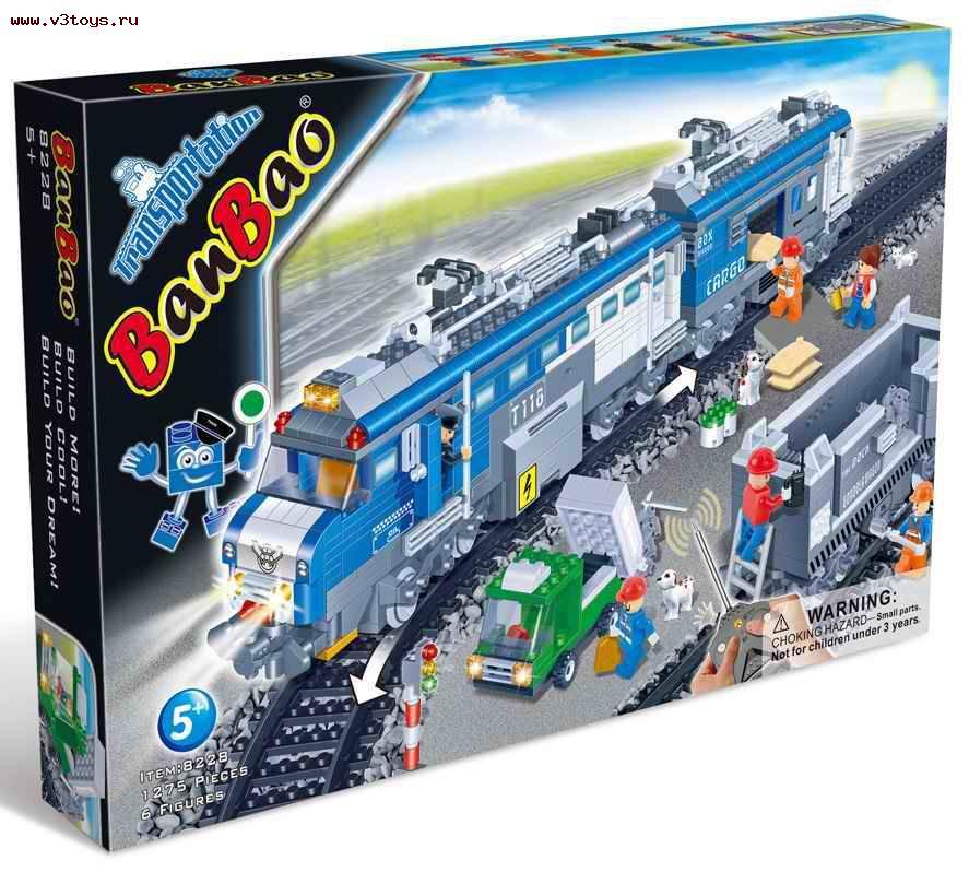 """Конструктор """"Пассажирский поезд"""" BanBao (Банбао)"""