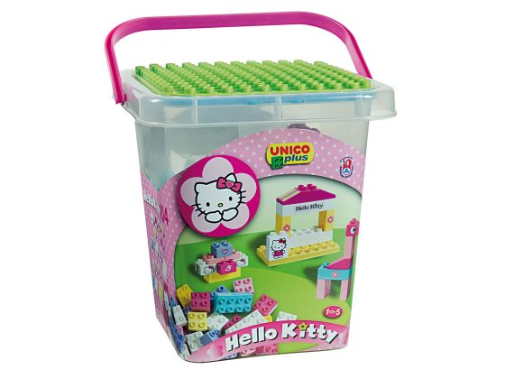 Конструктор Hello Kitty, в ведре, UNICO PLUS
