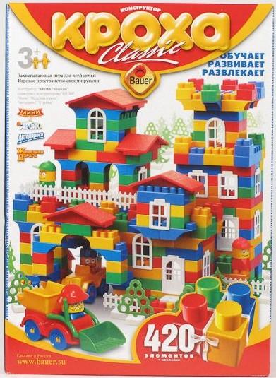 Детский конструктор Кроха, 420 элементов