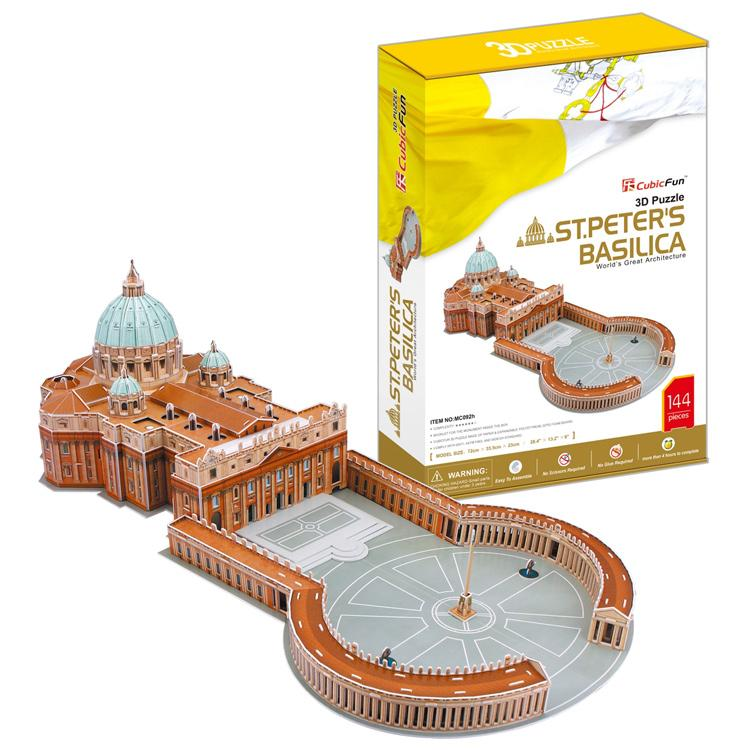 """3D пазл """"Собор Святого Петра"""" (Ватикан, Италия) CubicFun (КубикФан)"""