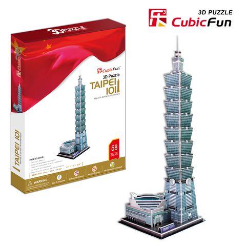 3D пазл Небоскреб Тайбэй (Тайвань) CubicFun (КубикФан)