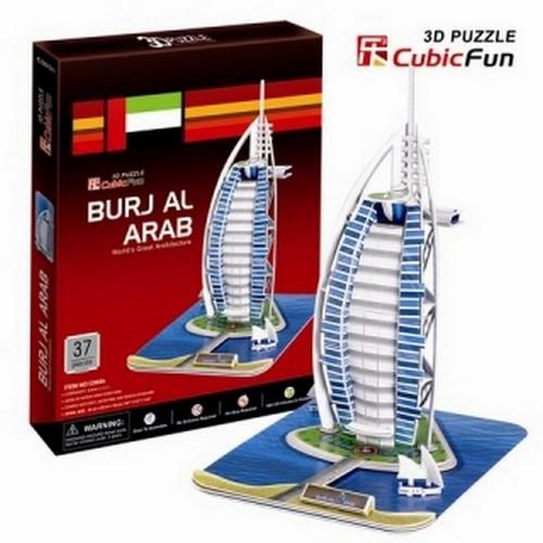 """3D-пазл """"Отель """"Бурж эль Араб"""" (Дубаи)"""" CubicFun (КубикФан)"""