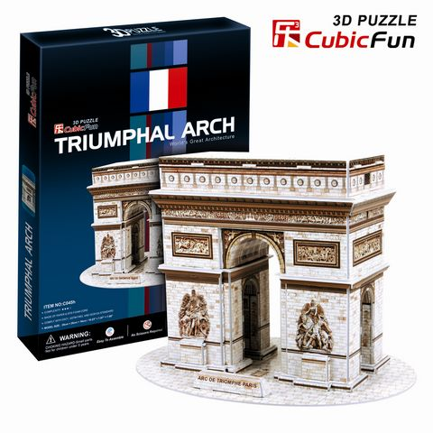3D пазл Триумфальная арка (Париж) CubicFun (КубикФан)