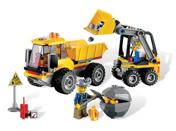 Погрузчик и самосвал Lego City (Лего Город)