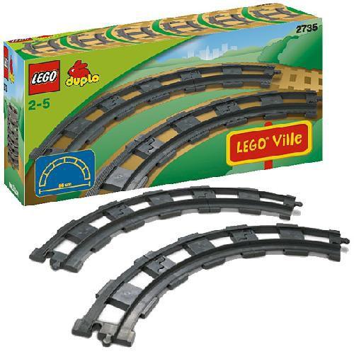6 закруглённых рельсов Lego Duplo (Лего Дупло)