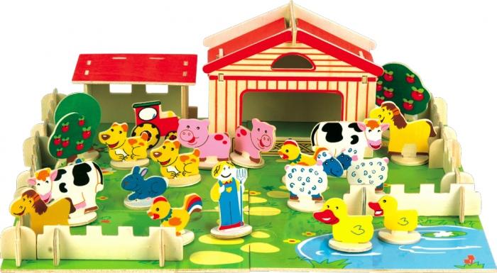 """Набор """"В гостях у фермера"""" Мир деревянных игрушек"""
