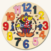 "Паззл-часы ""Клоун"" Bino (Бино)"