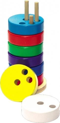 Пирамида круглая Мир деревянных игрушек