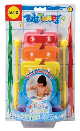 """Игрушка для ванной """"Плавающий ксилофон"""" с цветными нотами Alex (Алекс)"""