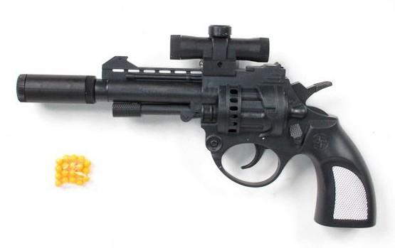 Пистолет пневматический с лазерным прицелом и фонарем