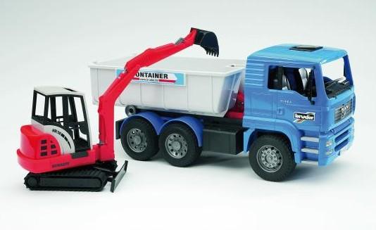 Самосвал MAN и экскаватор Schaeff HR16 Mini  Bruder (Брудер)