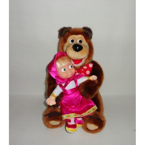 """Мягкие игрушки Мишка и Маша из мультфильма """"Маша и Медведь"""" """"Мульти-Пульти"""""""