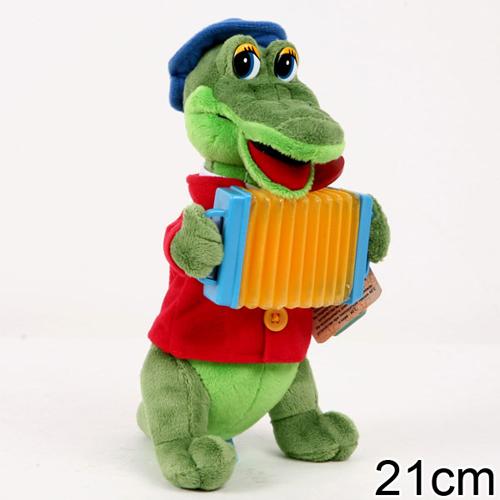 """Мягкая игрушка """"Крокодил Гена с аккордеоном"""" Мульти-Пульти"""
