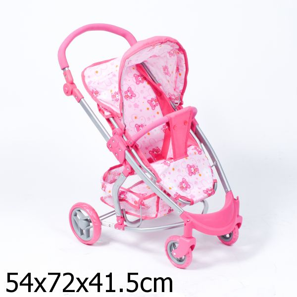 Кукольная коляска летняя с закрытой корзиной