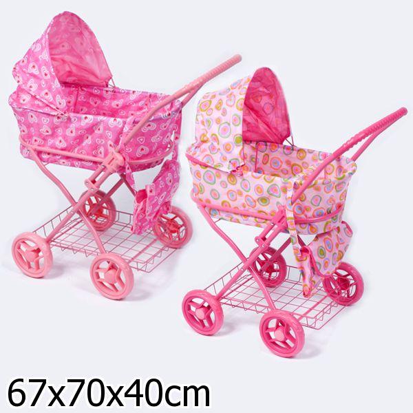 Кукольная коляска зимняя с сумкой