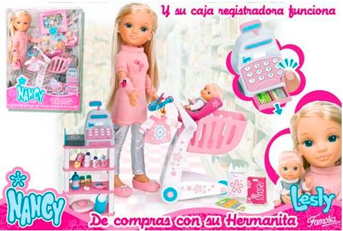 Кукла Нэнси с сестренкой идет за покупками, Famoza (Фамоза)