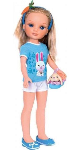 Кукла Нэнси и ее маленький питомец: с кроликом Famosa (Фамоса)