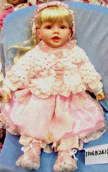 Кукла Карапуз Скарлет виниловая, озвученная, с чипом