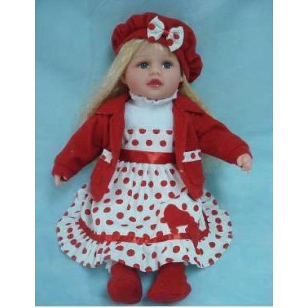 Кукла интерактивная, говорит 100 фраз, Красный горошек, 45 см Карапуз