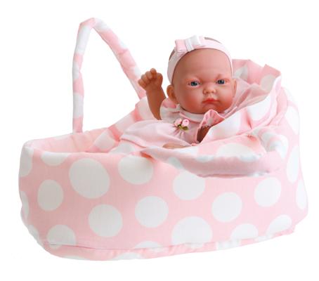 Кукла-младенец Лия в розовом с сумкой-переноской Antonio Juans Munecas (Куклы Антонио Хуан)