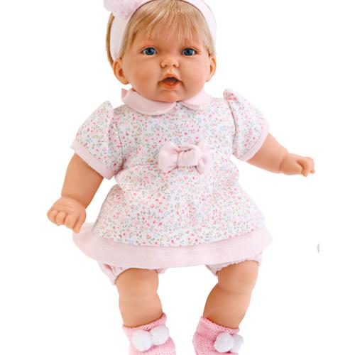 Кукла Анна, в платье в цветочек Antonio Juans Munecas (Куклы Антонио Хуан)