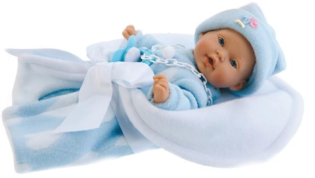 Кукла-младенец Кико в голубом, озвучена Antonio Juans Munecas (Куклы Антонио Хуан)