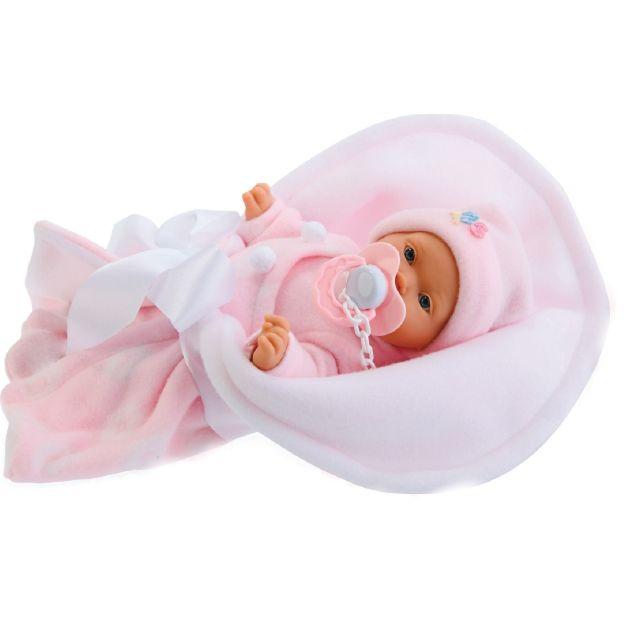Кукла-младенец Antonio Juans Munecas (Куклы Антонио Хуан) Кико в розовом