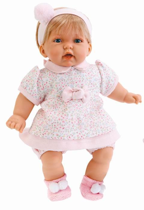 Кукла Анна в платье в цветочек, озвучена Antonio Juans Munecas (Куклы Антонио Хуан)