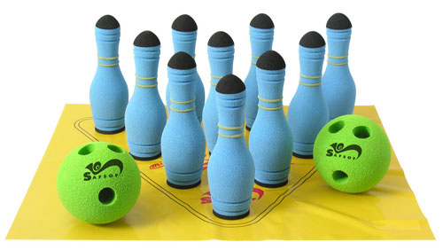 Игрушка Мини-Боулинг 10 кеглей SafSof (СафСоф) (СафСоф)