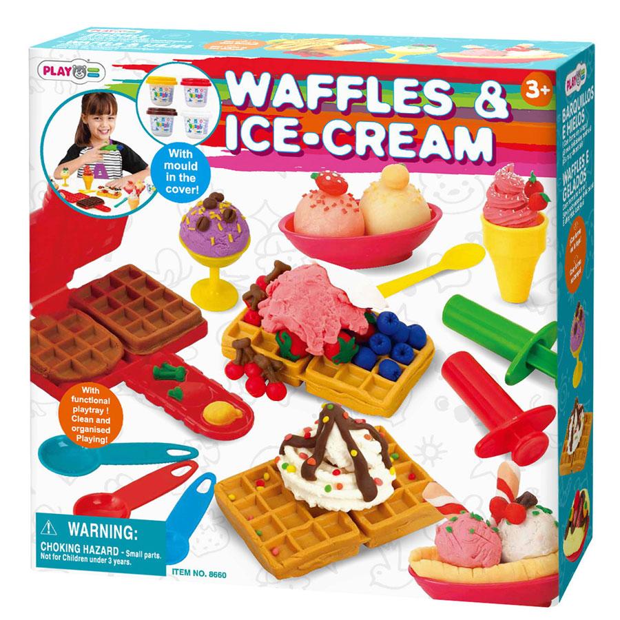 "Набор с пластилином ""Вафли и мороженое"" Playgo(Плейго)"
