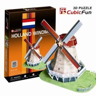 """3D-пазл """"Голландская мельница"""" CubicFun (КубикФан)"""