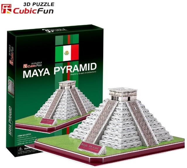 3D пазл Пирамиды племени Майя (Мексика) CubicFun (КубикФан)