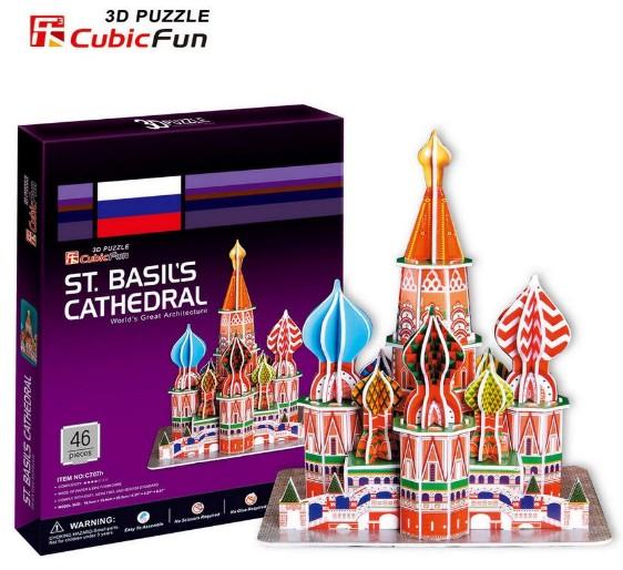 3D пазл Собор Василия Блаженного (Москва) CubicFun (КубикФан)