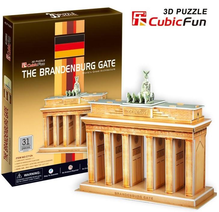3D пазл Браденбургские ворота (Берлин) CubicFun (КубикФан)