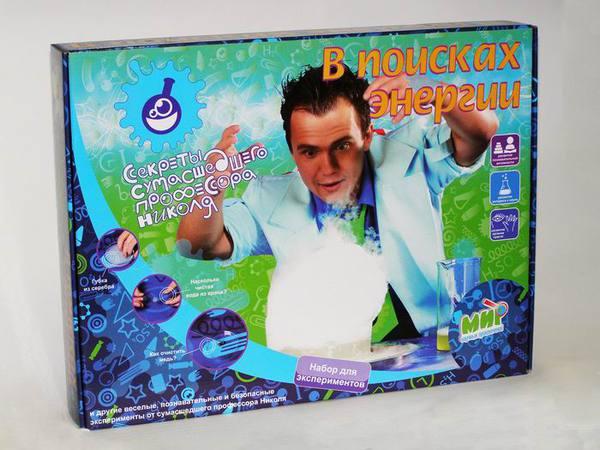 Набор для экспериментов: В поисках энергии Секреты сумасшедшего профессора Николя