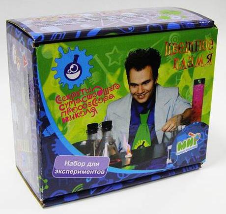 Набор для экспериментов: Цветное пламя Секреты сумасшедшего профессора Николя