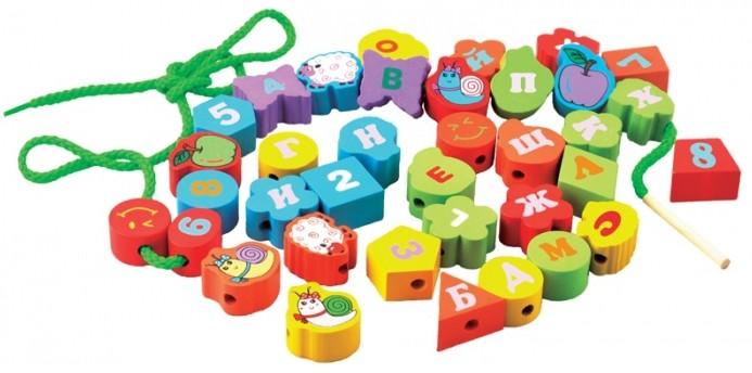 Геометрические бусы-алфавит Мир деревянных игрушек