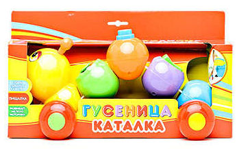 Игрушка-сортер Гусеница, Играем вместе