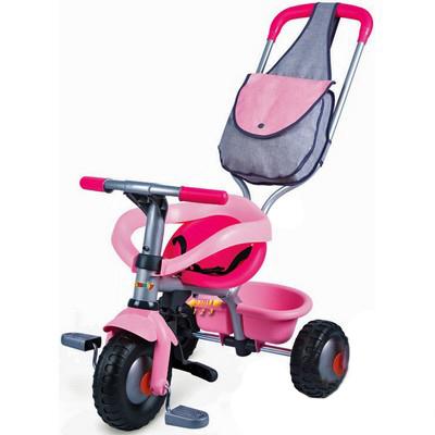 """Трехколесный велосипед с сумкой """"Voyager"""" розовый Smoby (Смоби)"""