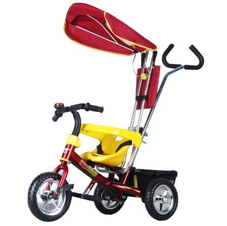 Детский трехколесный велосипед NeoTrike Rider (Неотрайк Райдер) красный с ручкой