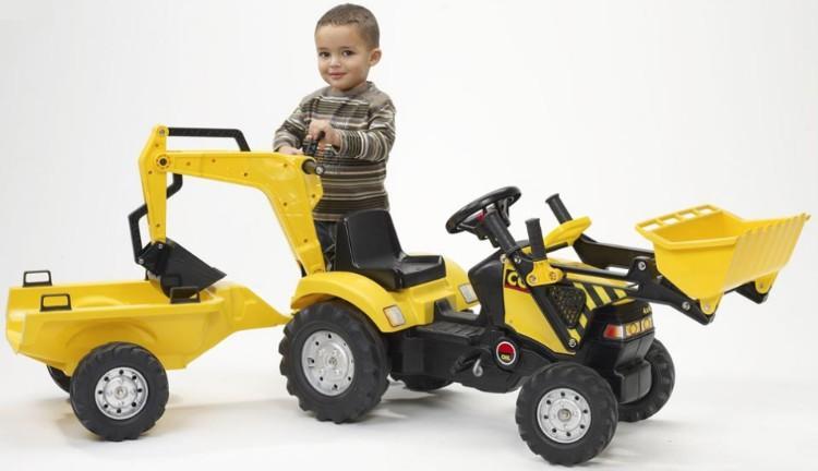Трактор с ковшом фото