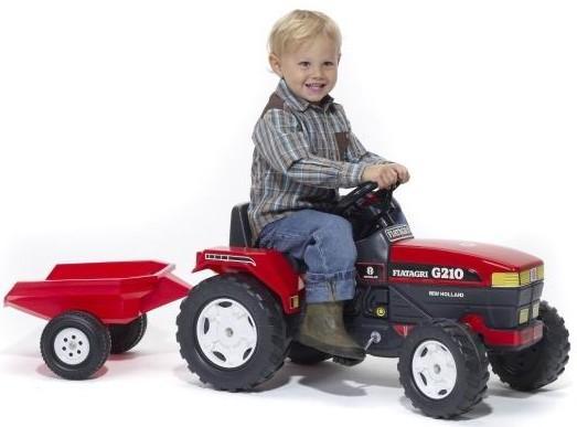 Трактор Falk (Фолк) педальный с прицепом красный 130 см